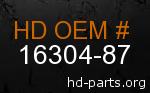 hd 16304-87 genuine part number