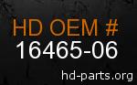 hd 16465-06 genuine part number