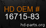 hd 16715-83 genuine part number