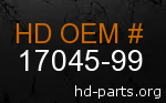 hd 17045-99 genuine part number