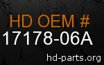hd 17178-06A genuine part number