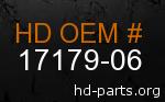 hd 17179-06 genuine part number