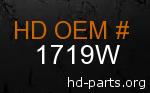 hd 1719W genuine part number