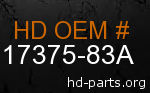 hd 17375-83A genuine part number