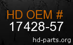hd 17428-57 genuine part number