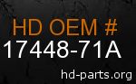 hd 17448-71A genuine part number