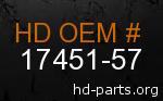 hd 17451-57 genuine part number