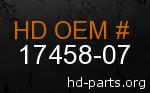 hd 17458-07 genuine part number