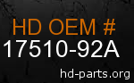 hd 17510-92A genuine part number