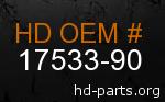 hd 17533-90 genuine part number