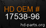 hd 17538-96 genuine part number