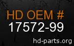 hd 17572-99 genuine part number