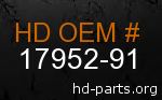 hd 17952-91 genuine part number