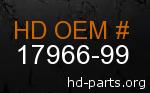 hd 17966-99 genuine part number