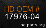 hd 17976-04 genuine part number