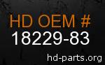 hd 18229-83 genuine part number