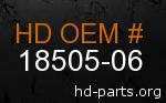 hd 18505-06 genuine part number