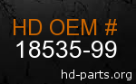 hd 18535-99 genuine part number