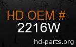 hd 2216W genuine part number