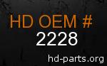 hd 2228 genuine part number