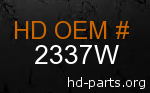 hd 2337W genuine part number