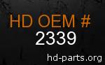 hd 2339 genuine part number