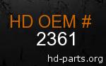 hd 2361 genuine part number