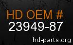 hd 23949-87 genuine part number