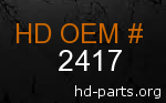 hd 2417 genuine part number