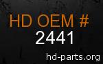 hd 2441 genuine part number
