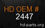 hd 2447 genuine part number