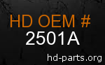hd 2501A genuine part number