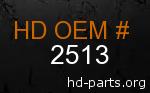 hd 2513 genuine part number
