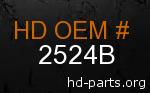 hd 2524B genuine part number