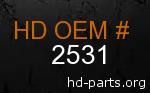 hd 2531 genuine part number