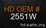 hd 2551W genuine part number