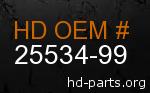 hd 25534-99 genuine part number
