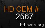 hd 2567 genuine part number