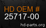 hd 25717-00 genuine part number