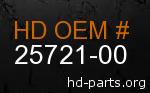 hd 25721-00 genuine part number
