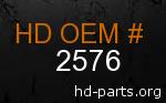 hd 2576 genuine part number