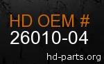 hd 26010-04 genuine part number