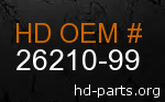 hd 26210-99 genuine part number