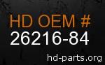 hd 26216-84 genuine part number