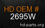 hd 2695W genuine part number
