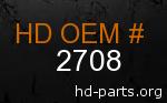 hd 2708 genuine part number