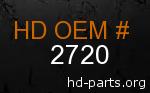 hd 2720 genuine part number