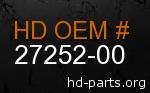 hd 27252-00 genuine part number