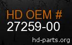 hd 27259-00 genuine part number