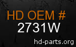 hd 2731W genuine part number
